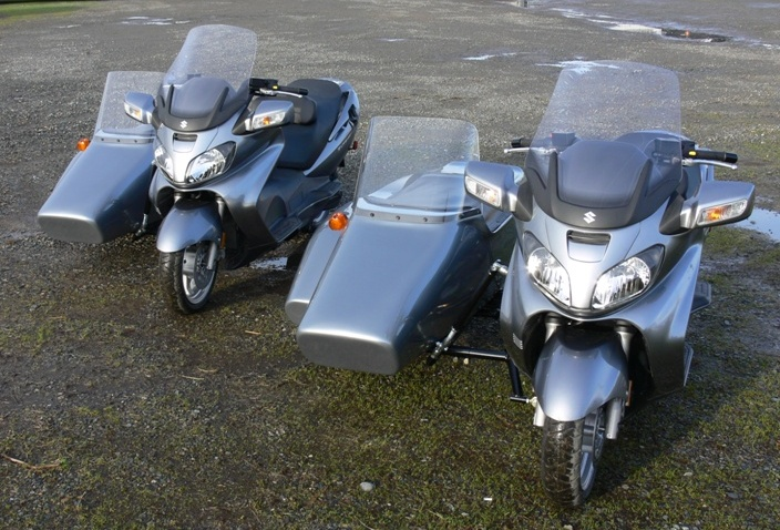 Kenna Single and Kenna Double Sidecars on Suzuki Bergman 650's